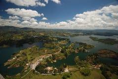 哥伦比亚guatape视图 免版税库存图片