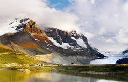 哥伦比亚Icefield,落矶山,加拿大 免版税库存照片