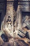 吴哥城废墟在柬埔寨 免版税库存照片