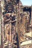 吴哥城废墟在柬埔寨 库存照片