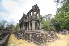 吴哥城的Preah可汗, Seim收割,柬埔寨 库存图片