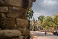 吴哥城, siemreap,柬埔寨 免版税图库摄影