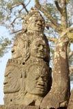 吴哥城(阿修罗),柬埔寨雕象  免版税库存照片