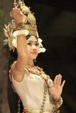 吴哥寺庙,柬埔寨晚上演示展示  库存图片