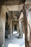 吴哥寺庙,柬埔寨柱子  库存图片
