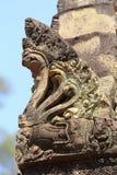 吴哥寺庙,柬埔寨雕象  库存照片