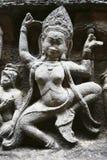 吴哥寺庙,柬埔寨雕象  免版税图库摄影