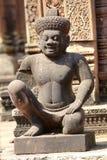 吴哥寺庙,柬埔寨雕象  免版税库存图片