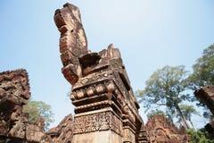 吴哥寺庙,柬埔寨雕象  免版税库存照片
