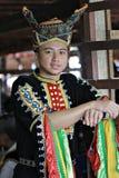 哥打贝卢,沙巴的Dusun Tindal人 免版税图库摄影