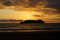 哥斯大黎加的日落 免版税库存图片