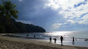 哥斯大黎加的海滩 库存照片