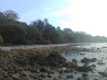 哥斯大黎加的海滩 图库摄影