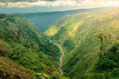 哥斯达黎加中部风景 库存照片