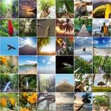 哥斯达黎加拼贴画 免版税库存图片
