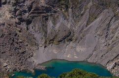 哥斯达黎加的伊拉苏火山 库存图片