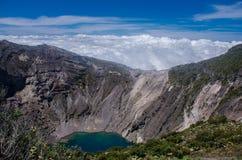 哥斯达黎加的伊拉苏火山 图库摄影