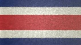 哥斯达黎加的旗子的原始的3D图象 向量例证