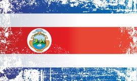 哥斯达黎加的旗子 起皱纹的肮脏的斑点 皇族释放例证
