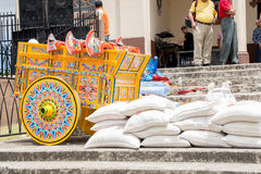 哥斯达黎加oxcart 免版税库存照片