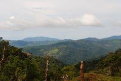 哥斯达黎加的山 图库摄影