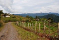 哥斯达黎加的山 免版税库存图片