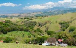 哥斯达黎加的谷 免版税图库摄影