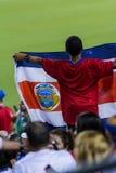 哥斯达黎加的足球迷 免版税图库摄影