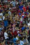 哥斯达黎加的足球迷 免版税库存图片