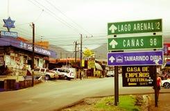 哥斯达黎加的镇 免版税库存照片