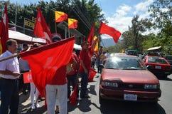 哥斯达黎加的总统选举2014年:在街道的温度 库存图片