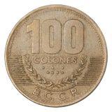 哥斯达黎加的Colones硬币 库存图片
