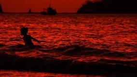 哥斯达黎加Sunset Playas del Coco 1 股票录像