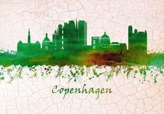 哥本哈根丹麦地平线 皇族释放例证