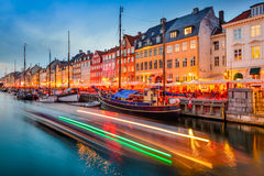 哥本哈根丹麦运河 库存照片