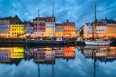 哥本哈根丹麦nyhavn 库存图片