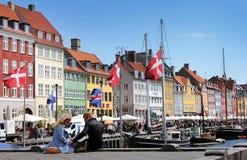 哥本哈根丹麦nyhavn 免版税库存照片