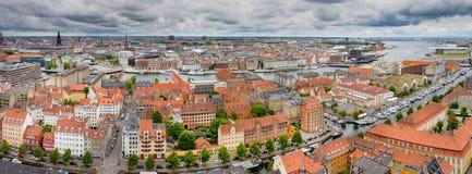 哥本哈根全景 免版税库存图片