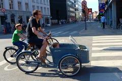 哥本哈根典型的自行车 库存图片