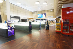 哥本哈根凯斯楚普机场内部 图库摄影