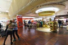 哥本哈根凯斯楚普机场内部 库存照片