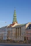 哥本哈根历史中心 免版税库存图片