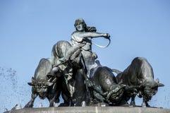 哥本哈根喷泉gefion 库存照片
