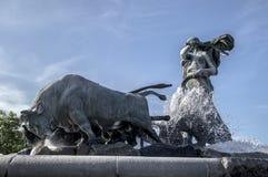 哥本哈根喷泉gefion 库存图片