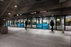 哥本哈根地铁的人们 免版税图库摄影