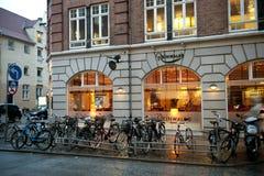 哥本哈根夜间 免版税库存照片