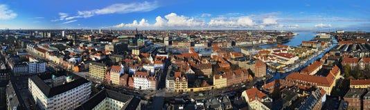 哥本哈根大全景 免版税图库摄影