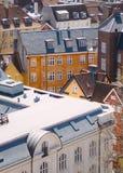 哥本哈根屋顶 图库摄影