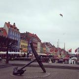 哥本哈根巡航目的地导致s世界的欧洲港口 免版税库存照片