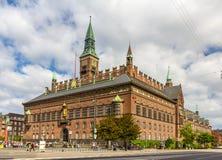 哥本哈根市政厅,丹麦看法  免版税库存照片